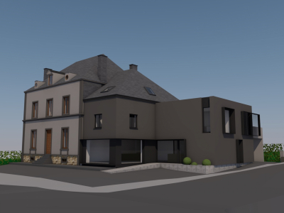 Transformation d'un opticien + logements